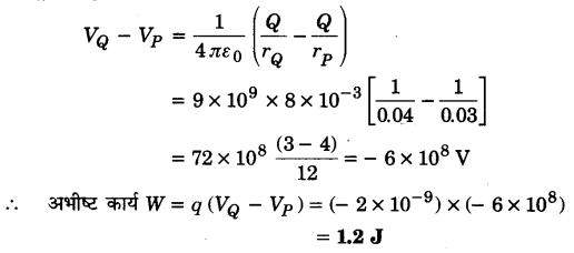 UP Board Solutions for Class 12 Physics Chapter 2 Electrostatic Potential and Capacitance Q12.1
