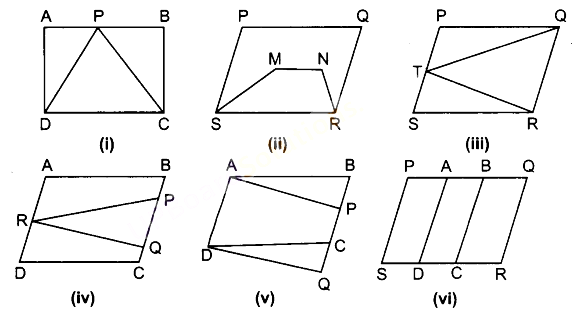 UP Board Solutions for Class 9 Maths Chapter 9 Area of Parallelograms and Triangles img-1